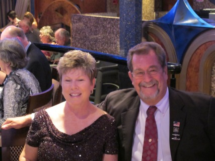 Henry and his wife Lee on a cruise in 2010.