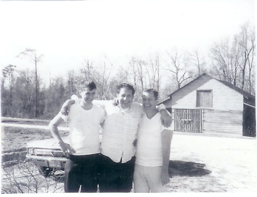 From 1957, (left to right) Henry's younger brother Ken, Henry, and their older brother Cliff