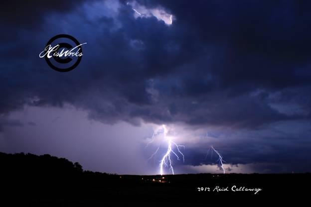 Lightning over Del Webb.