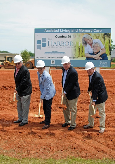 From L-R - Lowell White, developer and principal, Jeramy Ragsdale, owner of Thrive Senior Living, Ray Kramer, principal and Gary Corte, principal
